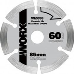 Disco Corte Diamante 85mm Para Sierra Circular Worxsaw Worx