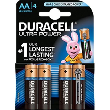 Pila  Alcalina Lr06 Aa 1,5v Ultra Power Duracell 4 Pz