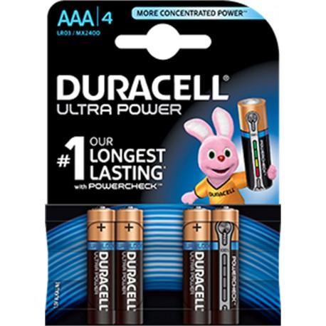 Pila  Alcalina Lr03 Aaa 1,5v Ultra Power Duracell 4 Pz
