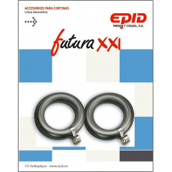 Anilla Cortina 19mm Hogar Met Niq Futura 21 Epid 10 Pz