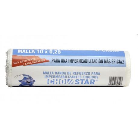 Malla Imp. Fib/vidrio 10x0,25mt Refuerzo Chovastar Chova