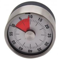 Reloj Coc Temporizador 60 Min 6,5cm Mecanico Inox Ne Silicon