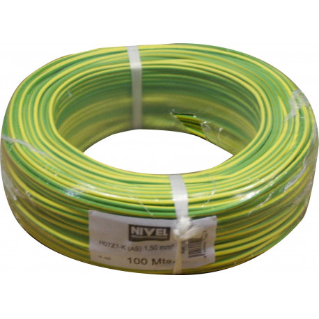 Cable Elec 1,5mmx100mt Hilo Flexible Nivel Cobre Am/ve Libre