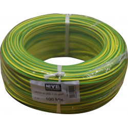 Cable Elec 2,5mmx100mt Hilo Flexible Nivel Cobre Am/ve Libre