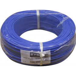 Cable Elec 1,5mmx100mt Hilo Flexible Nivel Cobre Az Libre Ha