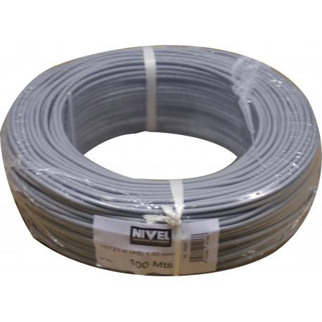 Cable Elec 1,5mmx100mt Hilo Flexible Nivel Cobre Gr Libre Ha
