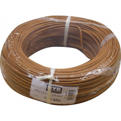 Cable Elec 1,5mmx100mt Hilo Flexible Nivel Cobre Marr Libre