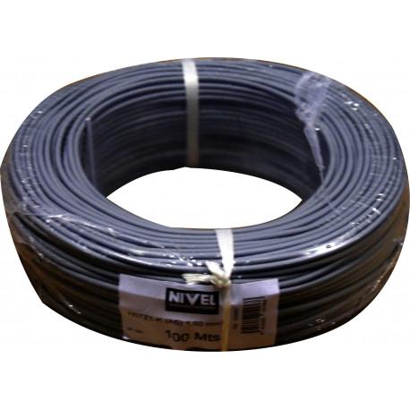 Cable Elec 1,5mmx100mt Hilo Flexible Nivel Cobre Ne Libre Ha