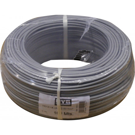 Cable Elec 2,5mmx100mt Hilo Flexible Nivel Cobre Gr Libre Ha