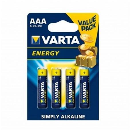 Pila Alcalina Lr03 Aaa 1,5v Energy Varta 4 Pz