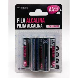 Pila Alcalina Lr06 Aa Vivah 6 Pz