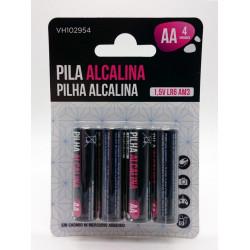 Pila Alcalina Lr06 Aa Vivah 4 Pz