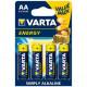 Pila Alcalina Lr06 Aa 1,5v Energy Varta 4 Pz