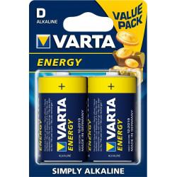 Pila Alcalina Lr20 1,5v Energy Varta 2 Pz