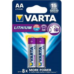Pila Alcalina Lr06 Aa 1,5v Profesional Lithium Varta