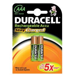 Pila Recargable Lr03 Aaa 1,5v Duracell 2 Pz