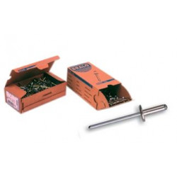 Remache Fij 4,8x18mm C/anch Alu Alum C14 Bralo 200 Pz
