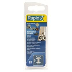Remache Fij Textil-cuero 3x7x9mm Tubular Rapid 25 Pz