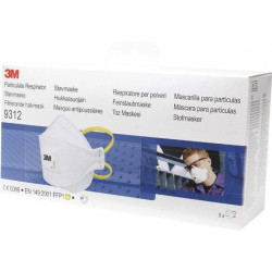Mascarilla Prot Ffp1 Autofilt Pleg C/va Aura 3m