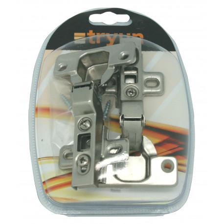 Bisagra Cazoleta M/mad Acodada 35mm Clip Tryun 2 Pz