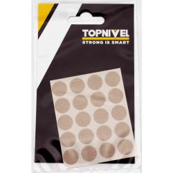 Tapon Cubretornillo Adh 13mm Textil Beige Nivel 20 Pz