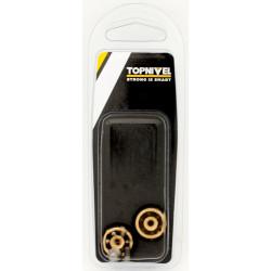 Rueda Mampara Rodamiento Metalico 20mm C/tornillo Ne  2pz