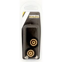 Rueda Mampara Rodamiento Metalico 26mm C/tornillo Ne 2pz