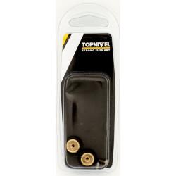Rueda Mampara Rodamiento Metalico 16mm C/ Tornillo Ne 2pz