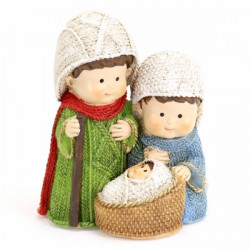 Adorno Navidad Figuras Nacimiento 10,5cm Polires Juinsa 3 Pz