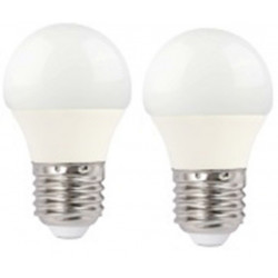 Lampara Ilumin Led Esf. E27 5w 390lm 4000k Megaled 2 Pz