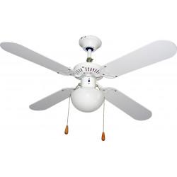 Ventilador Techo C/luz 4 Aspas, 50w 105cm 3 Velocidades