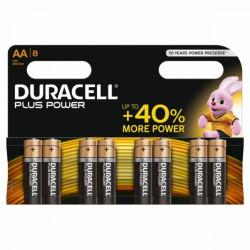 Pila Alcalina Lr06 Aa 1,5v Power Plus Duracell 8 Pz
