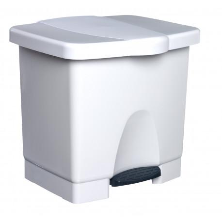 Cubo de Basura Pedal Ecologico Blanco 653 Unidad