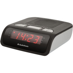 Radio Portatil Reloj Despertador Audiosonic Alarma Dual Am/f