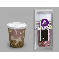Vaso Desechable C/tapa 200cc Carton Dec 10 Pz