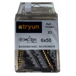 Taco Fij Tornillo 6,0x50mm 8x040mm Bicromat. Tryun 3 Pz