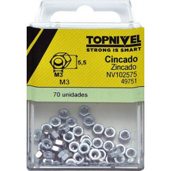 Tuerca Hexagonal 934 M03 Cinc Nivel 70 Pz