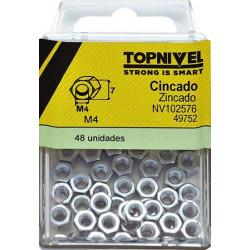 Tuerca Hexagonal 934 M04 Cinc Nivel 48 Pz