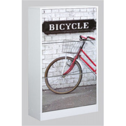 Zapatero Orden 3 Puertas 117x24x60cm Mad Bicicleta Kitcloset