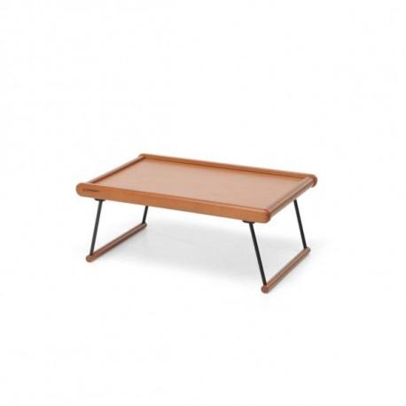 Bandeja servir cama 24x60x39cm con patas madera metal nogal masferreteria - Bandeja con patas ...