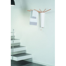 Tendedero Pared 8 Varillas Abs/madera Nat Tub8 Foppapredetti