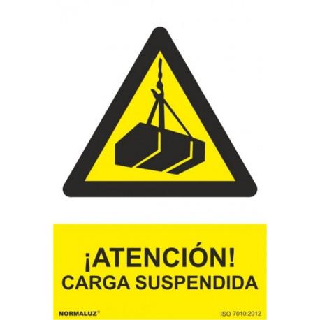 Cartel Señal 210x300mm Pvc Carga Suspendida Normaluz