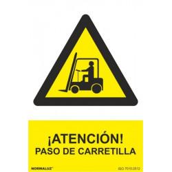 Cartel Señal 210x300mm Pvc Paso Carretilla Normaluz