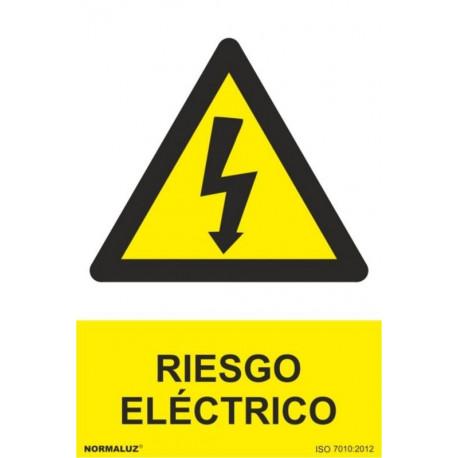 Cartel Señal 210x300mm Pvc Riesgo Electrico Normaluz
