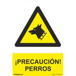 Cartel Señal 210x300mm Pvc ¡precaucion! Perros Normaluz