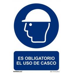 Cartel Señal 210x300mm Pvc Obliga Uso Casco Normaluz