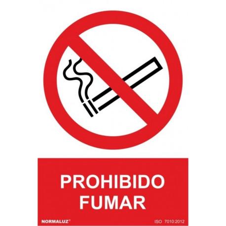 Cartel Señal 210x300mm Pvc Prohibido Fumar Normaluz