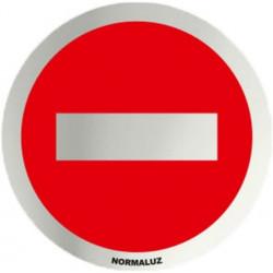 Placa Señal 7cm Diam Autoadh In. Prohibido El Paso Normaluz