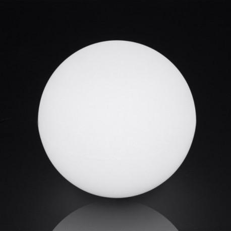 Lampara Bola Dec 30cm E27 Ip65 Pe Blanca Retroilu Ext. Spher