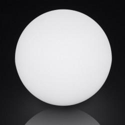 Lampara Bola Dec 40cm E27 Ip65 Pe Blanca Retroilu Ext. Spher
